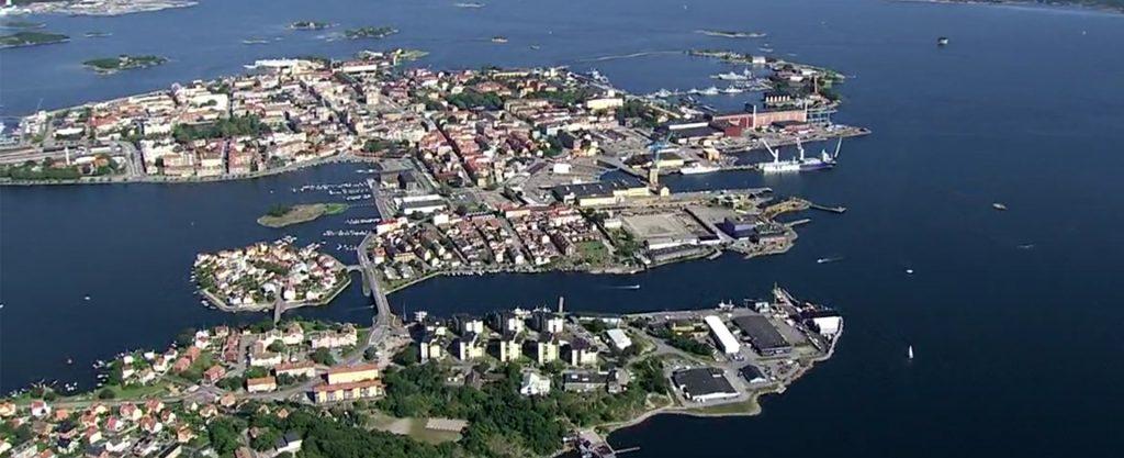 Vy över Karlskrona